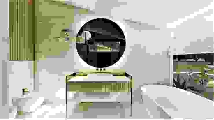 konsola do łazienki livinghome wnętrza Katarzyna Sybilska Nowoczesna łazienka