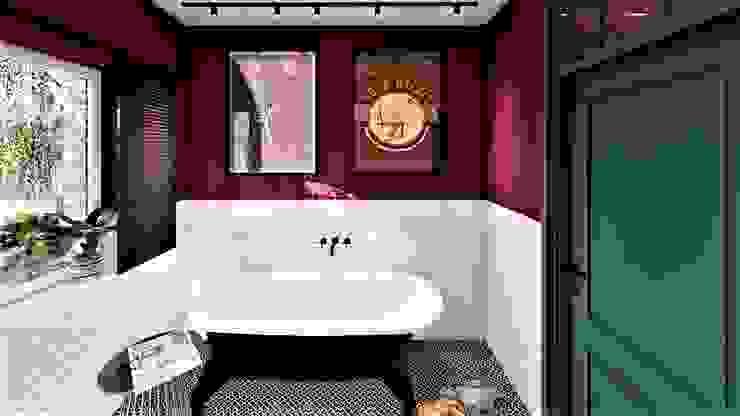 Projekt młody jak lokator livinghome wnętrza Katarzyna Sybilska Eklektyczna łazienka