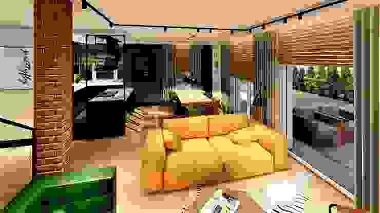 Projekt młody jak lokator livinghome wnętrza Katarzyna Sybilska Nowoczesny salon