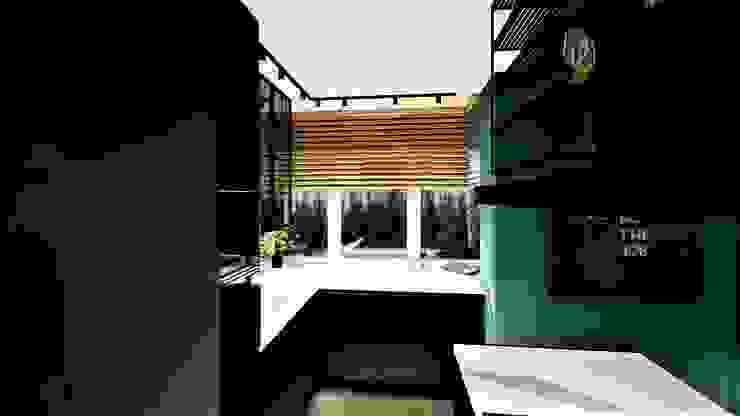 green tea livinghome wnętrza Katarzyna Sybilska Nowoczesna kuchnia