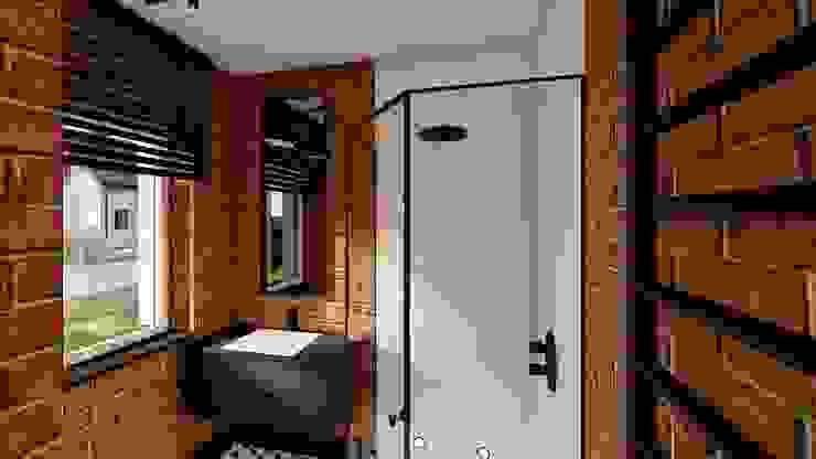 prysznic górą livinghome wnętrza Katarzyna Sybilska Industrialna łazienka