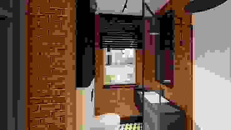 łazienka goscinna livinghome wnętrza Katarzyna Sybilska Industrialna łazienka