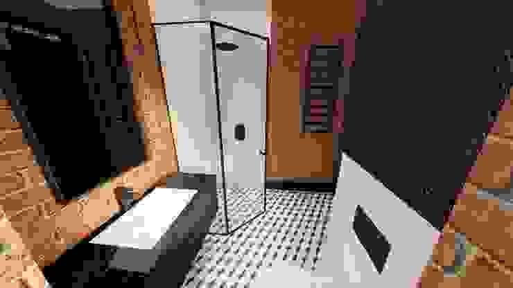 łazienka livinghome wnętrza Katarzyna Sybilska Industrialna łazienka