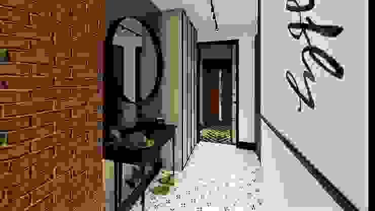 mirror mirror livinghome wnętrza Katarzyna Sybilska Nowoczesny korytarz, przedpokój i schody