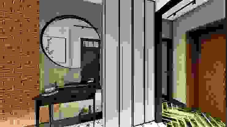 kolo w koło livinghome wnętrza Katarzyna Sybilska Industrialny korytarz, przedpokój i schody