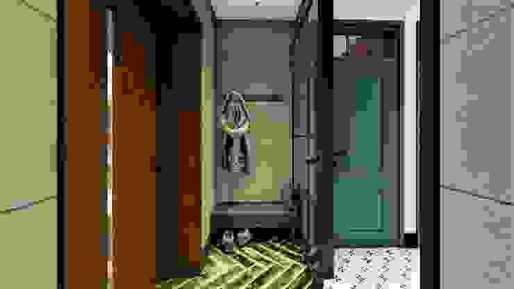 wiatrołap livinghome wnętrza Katarzyna Sybilska Eklektyczny korytarz, przedpokój i schody