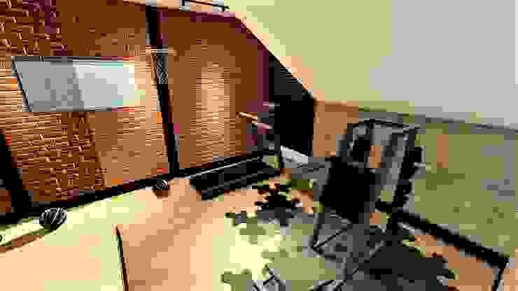 home siłka livinghome wnętrza Katarzyna Sybilska Nowoczesna siłownia