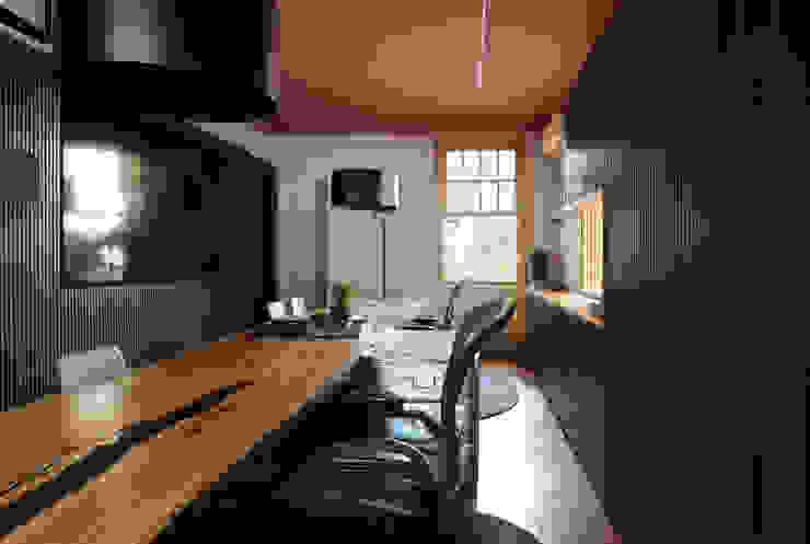 MOOD- Escritório Pacaembu Estúdio Mood Espaços comerciais modernos Madeira Preto