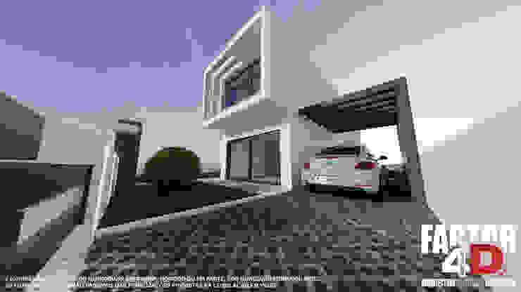 Exterior#005 Factor4D - Arquitetura, Consultadoria & Gestão Casas modernas