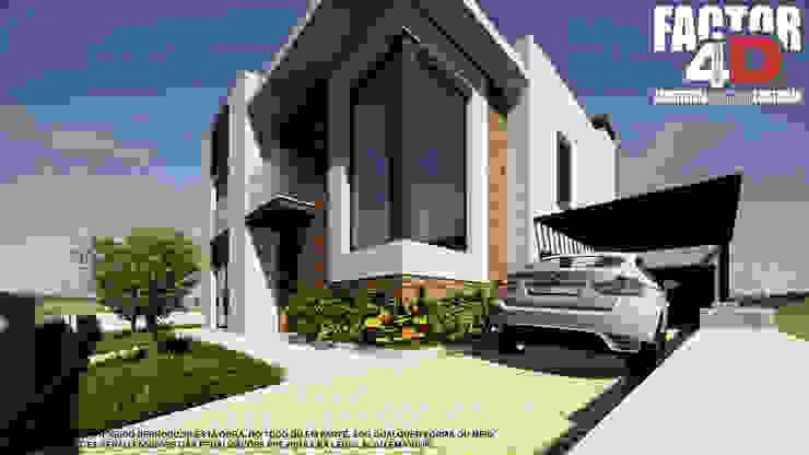 Exterior#003 Factor4D - Arquitetura, Consultadoria & Gestão Casas modernas