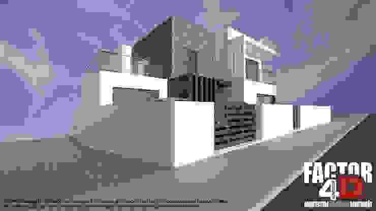 Exterior#001 Factor4D - Arquitetura, Consultadoria & Gestão Casas modernas