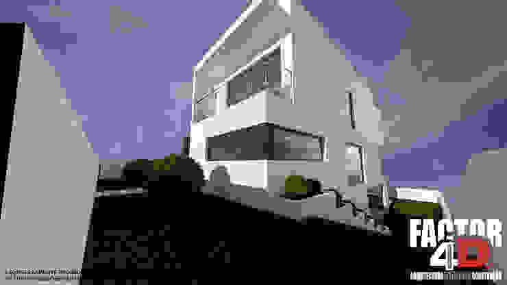 Exterior#004 Factor4D - Arquitetura, Consultadoria & Gestão Casas modernas