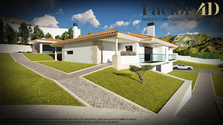 Exterior#001 Factor4D - Arquitetura, Consultadoria & Gestão Casas clássicas