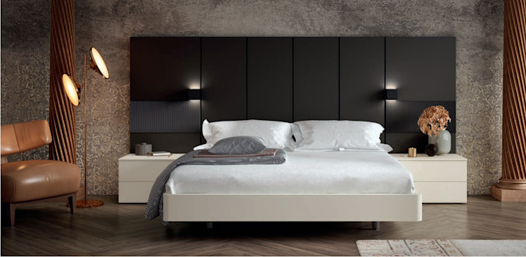 DORMITORIO 119 FREE BORONIA HOME Dormitorios de estilo moderno Tablero DM Blanco