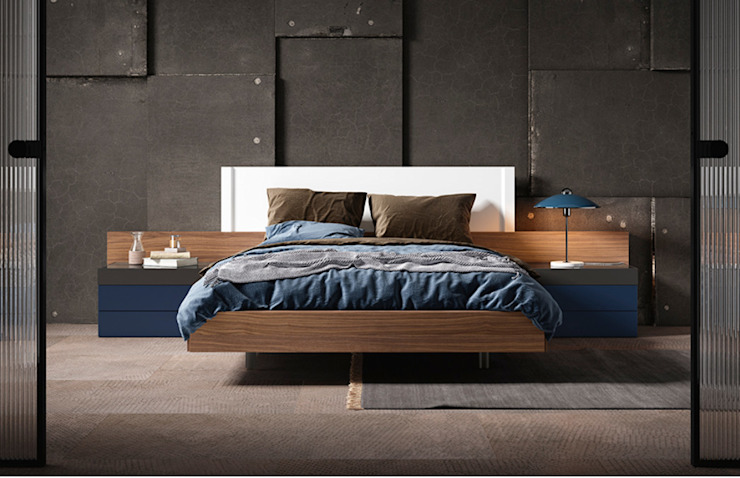 DORMITORIO 106 HERMES GALERIA BORONIA HOME Dormitorios de estilo moderno Tablero DM Blanco