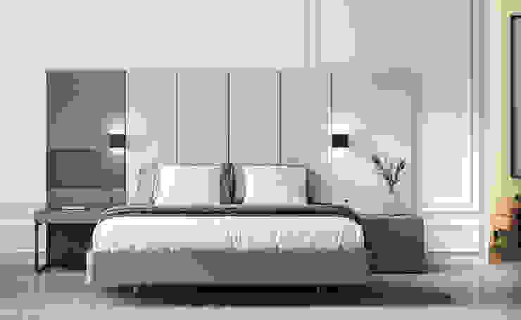 DORMITORIO 121 FREE GALERIA BORONIA HOME Dormitorios de estilo moderno Tablero DM Blanco