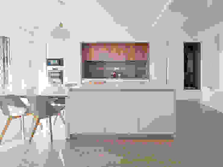 Isola cucina Spazio 14 10 Soggiorno moderno Legno Bianco