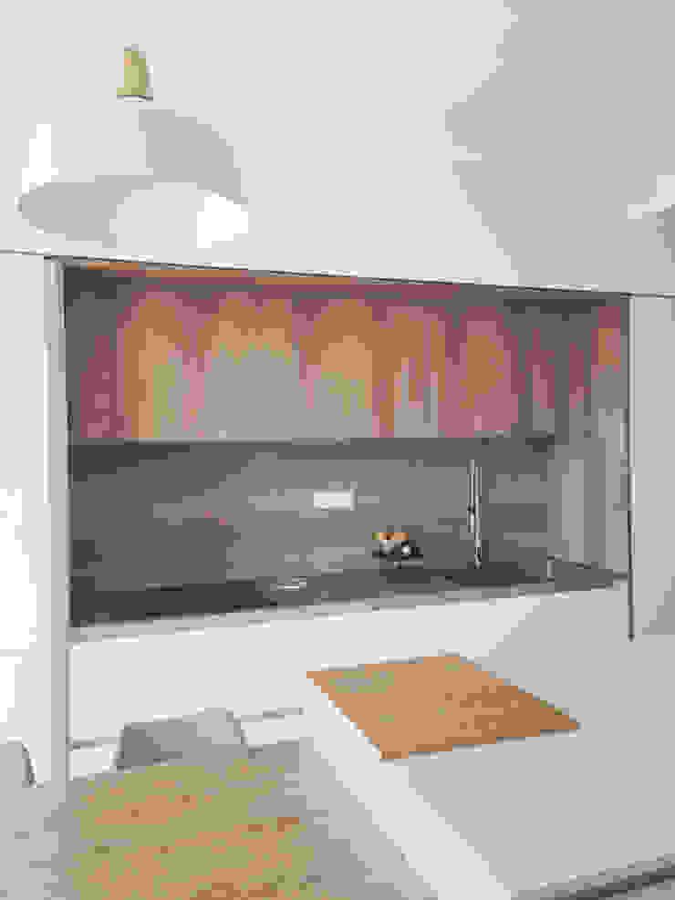 Cucina bianco/legno Spazio 14 10 Cucina attrezzata Legno Bianco