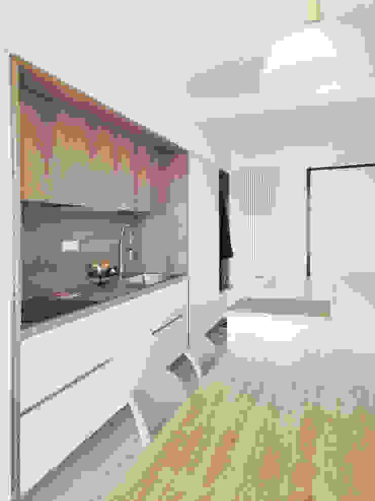 Cucina lineare con isola Spazio 14 10 Cucina moderna