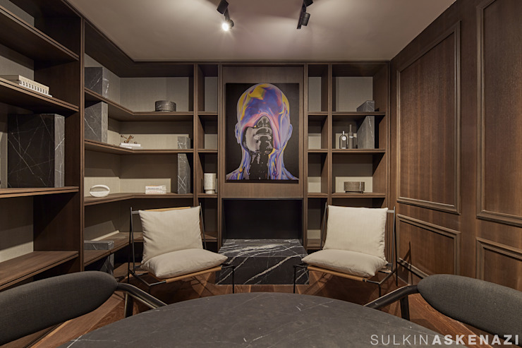 Sulkin Askenazi Modern Study Room and Home Office