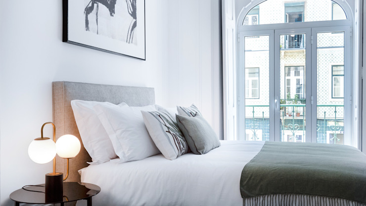 Decoração cama LOFT . DESIGN HOME STAGING QuartoAcessórios e decoração