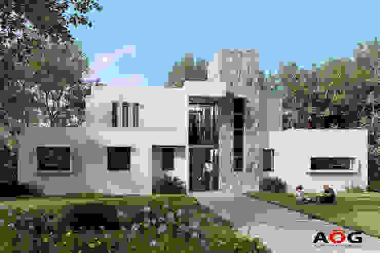 CASA MP AOG Casas unifamiliares Aluminio/Cinc Blanco