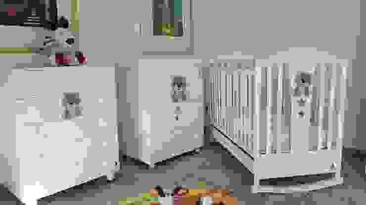 Set Lettino +Bagnetto Fasciatoio + cassettiera Modalbimbi Cameretta neonato Legno