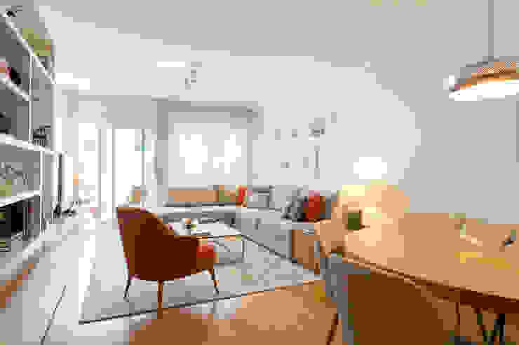 Sala de Estar | Expo Traço Magenta - Design de Interiores Salas de estar modernas