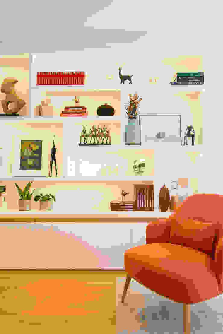 Sala de Estar | Expo Traço Magenta - Design de Interiores Sala de estarTV e mobiliário