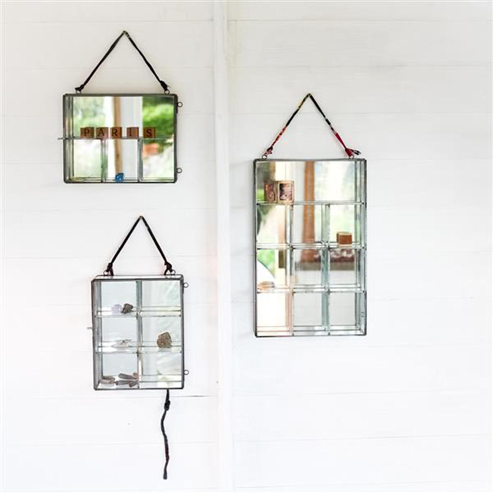 Glass Mirror Boxes par Loop the Loop Rustique