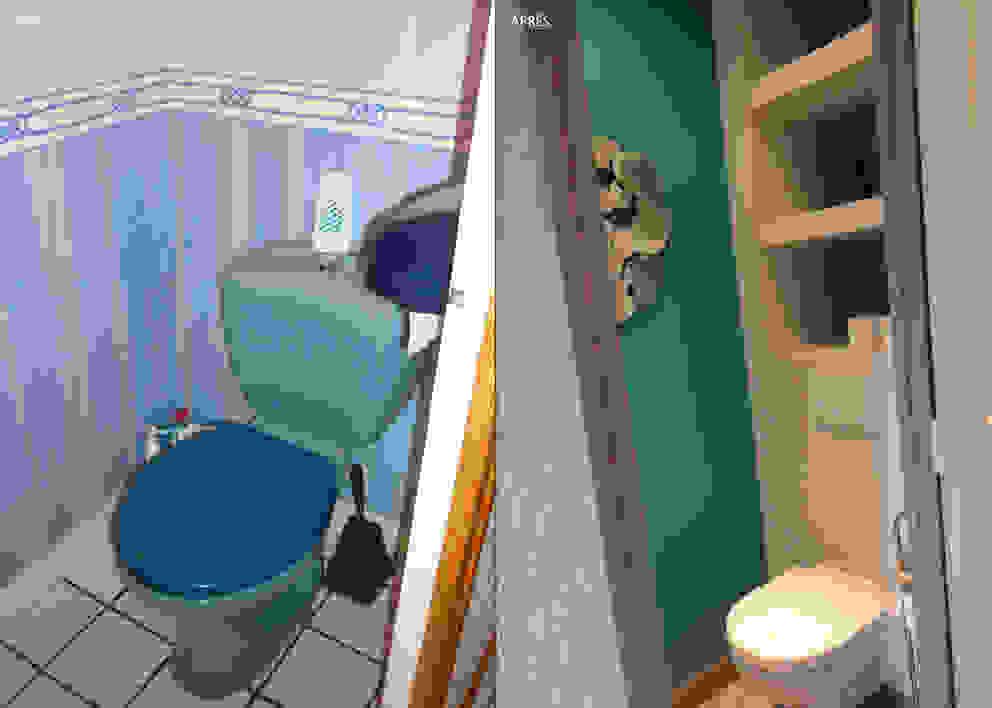 DOUCE RÉVOLUTION Salle de bain moderne par UN AMOUR DE MAISON Moderne
