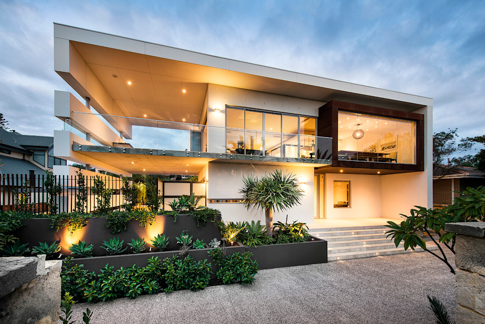 Elevation D-Max Photography Casas de estilo industrial