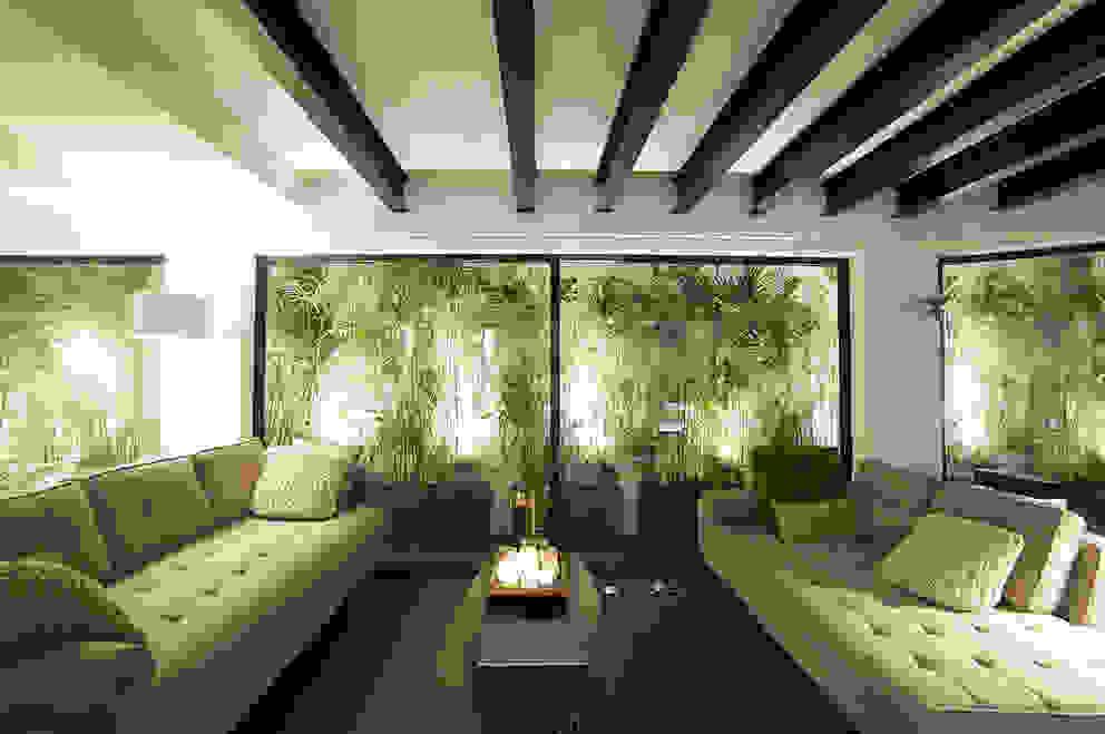 Salas de estar tropicais por OneByNine Tropical