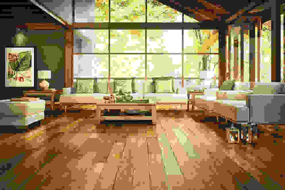 Pareti & Pavimenti in stile tropicale di Timberplan Tropicale