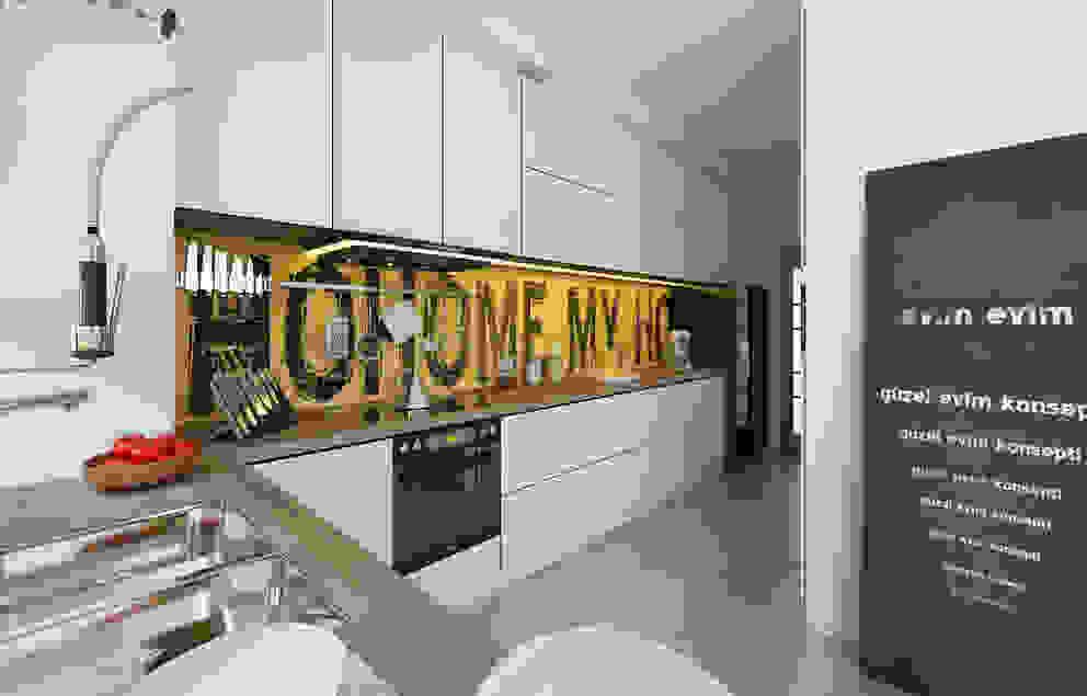 Cocinas de estilo  por İNDEKSA Mimarlık İç Mimarlık İnşaat Taahüt Ltd.Şti.,