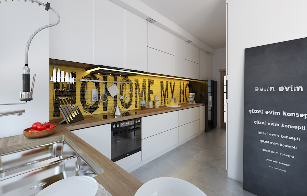 Cocinas de estilo  de İNDEKSA Mimarlık İç Mimarlık İnşaat Taahüt Ltd.Şti.