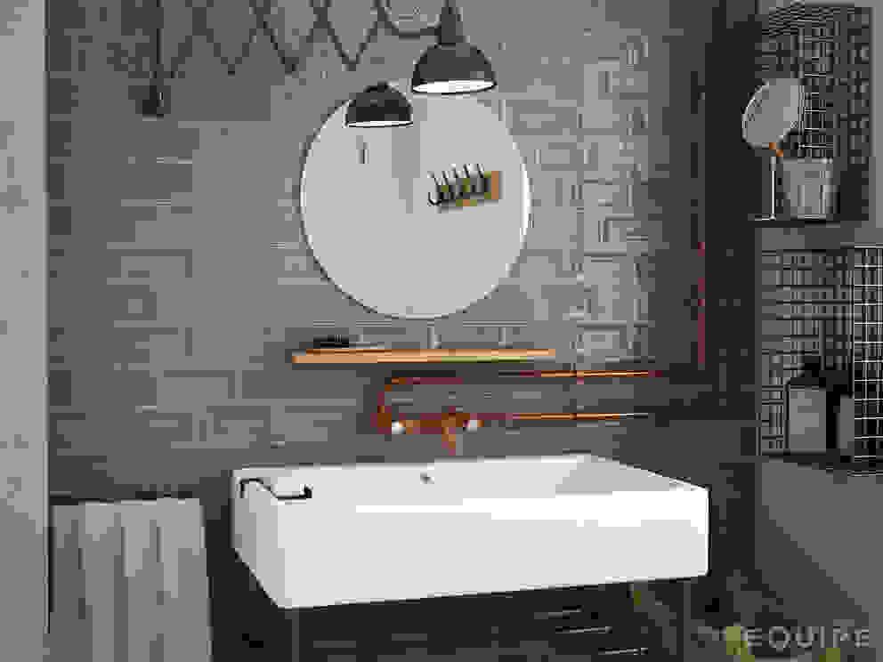 Evolution Inmetro Dark Grey / Evolution Gris Oscuro 7,5x15 Baños industriales de Equipe Ceramicas Industrial Cerámico