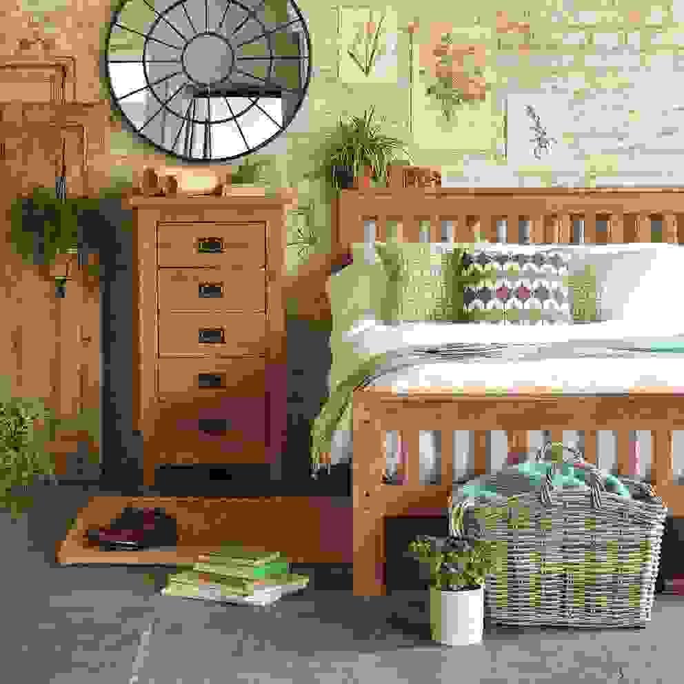 Oakland Bedroom Collection Dormitorios de estilo rural de The Cotswold Company Rural Madera Acabado en madera