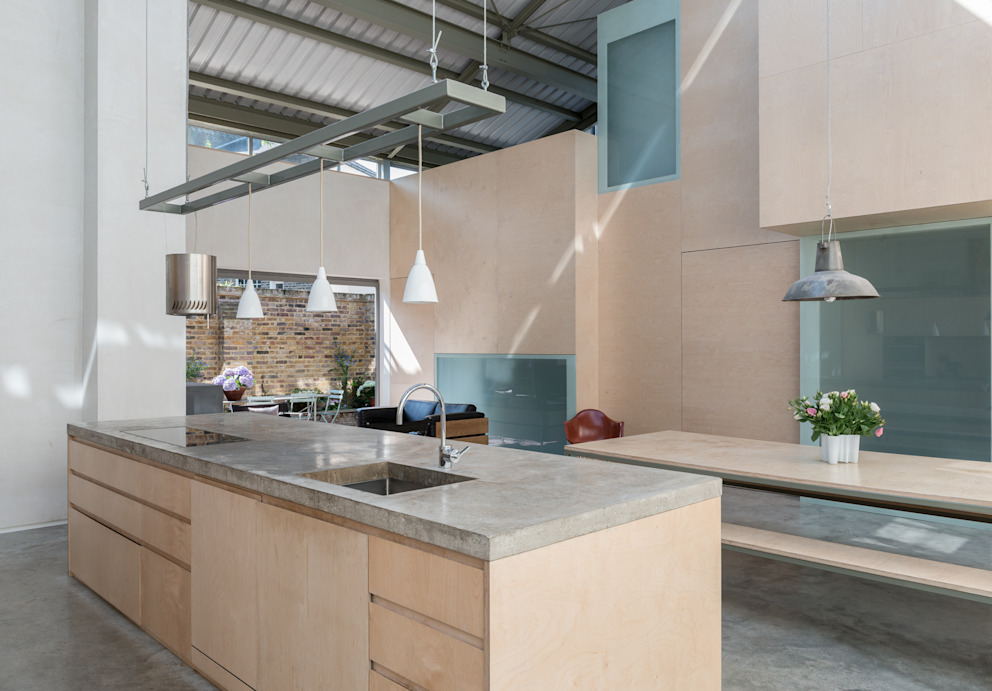 Cocinas de estilo  por Henning Stummel Architects Ltd,