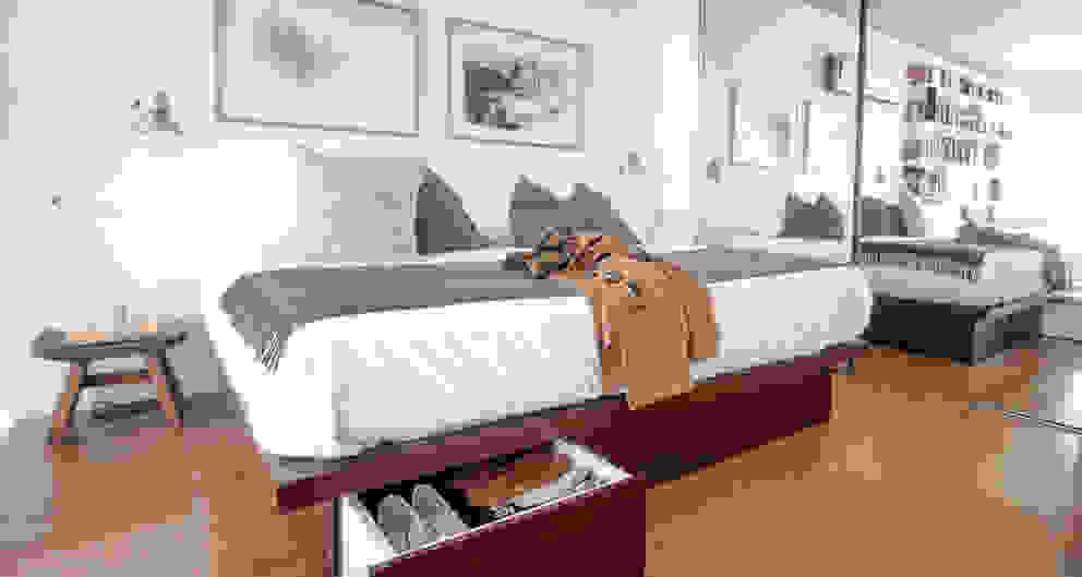 Dormitorio Dormitorios de estilo moderno de MeMo arquitectas Moderno