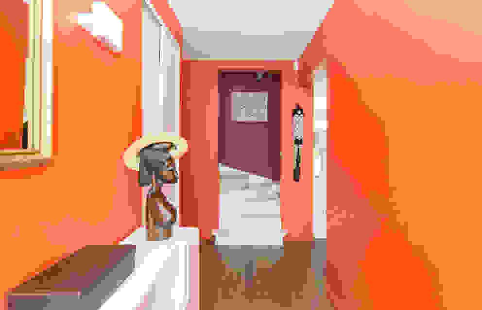 Corredores, halls e escadas modernos por Katia Rocchia Home Designer Moderno