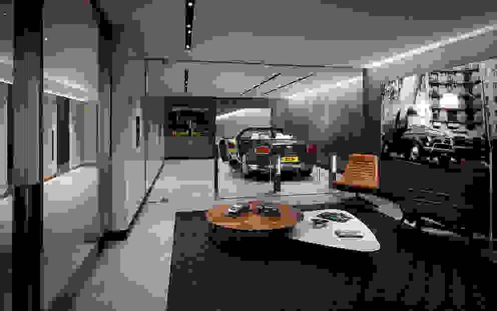 Folio Design | The Cricketers | Car Room Garagens e edículas modernas por Folio Design Moderno
