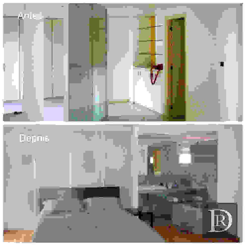 LOFT | dormitório e banheiro por Debora de Rezende | arquitetura e interiores