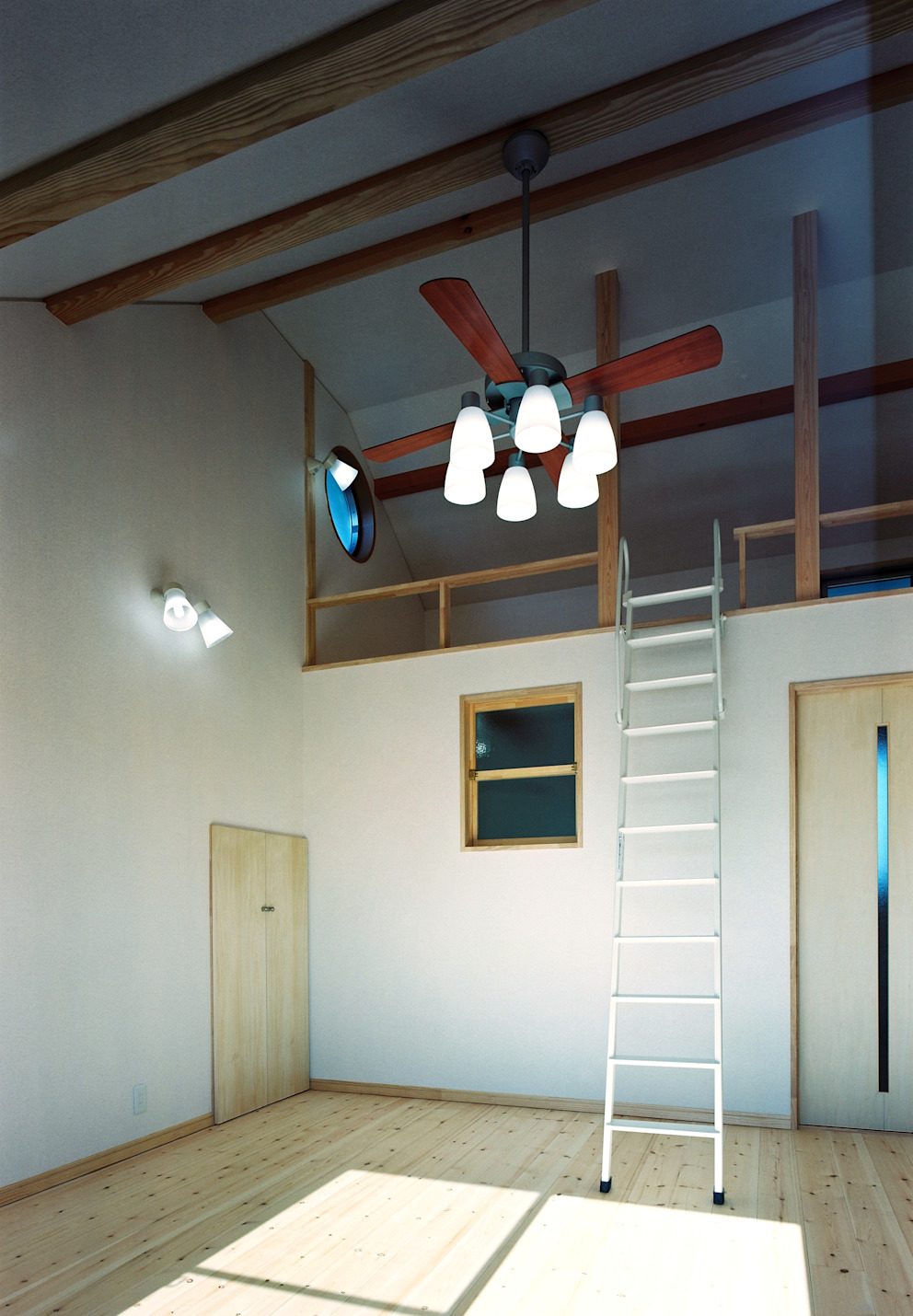 Camera da letto moderna di 小栗建築設計室 Moderno