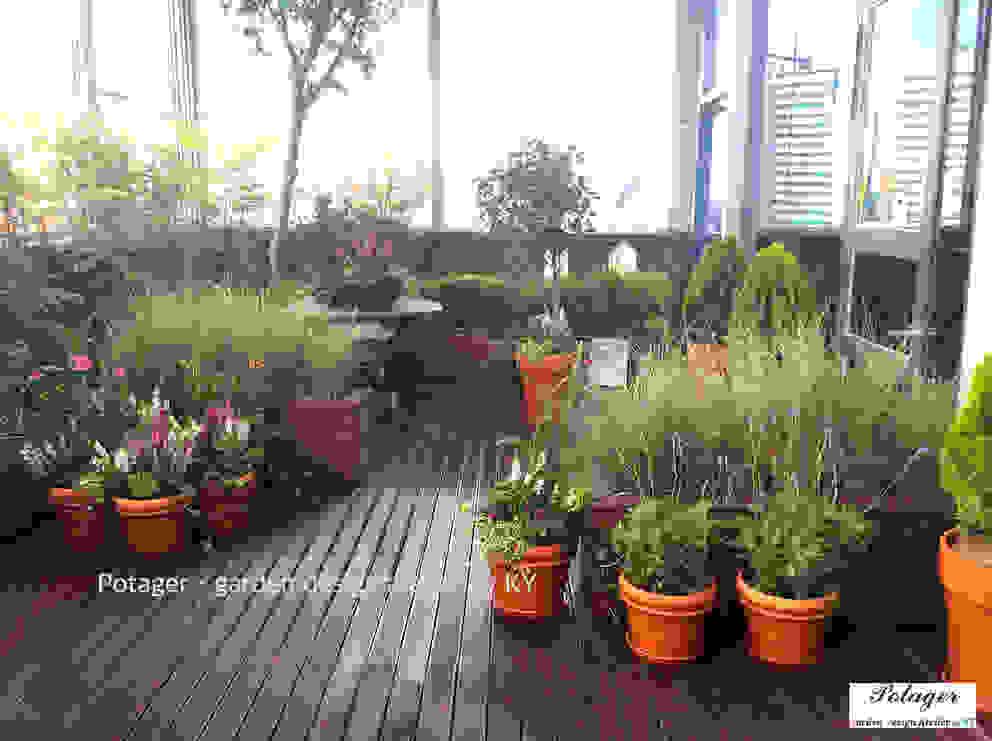 Potager Classic style balcony, veranda & terrace Green