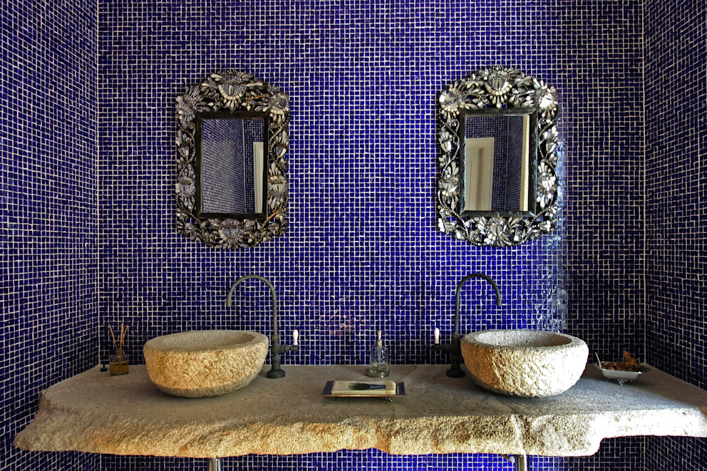 Bancada lavabo por Célia Orlandi por Ato em Arte Campestre