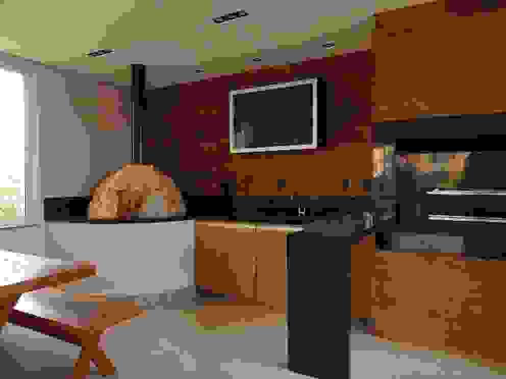 Terrazas de estilo  por Daniela Simões Arquitetura e Interiores, Moderno Madera Acabado en madera