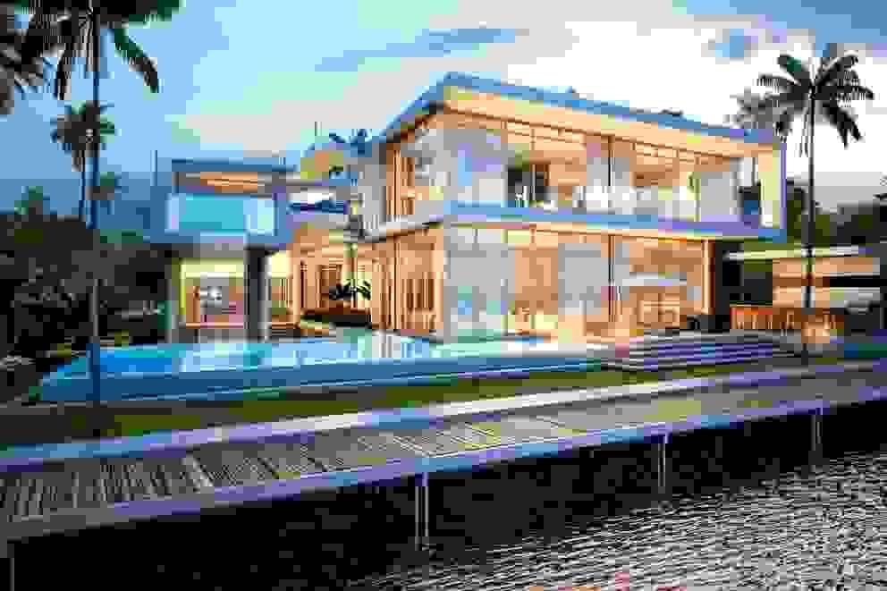 H2 + KUBIK, MIAMI, FLORIDA: Casas de estilo  por Kubik Lab, Moderno