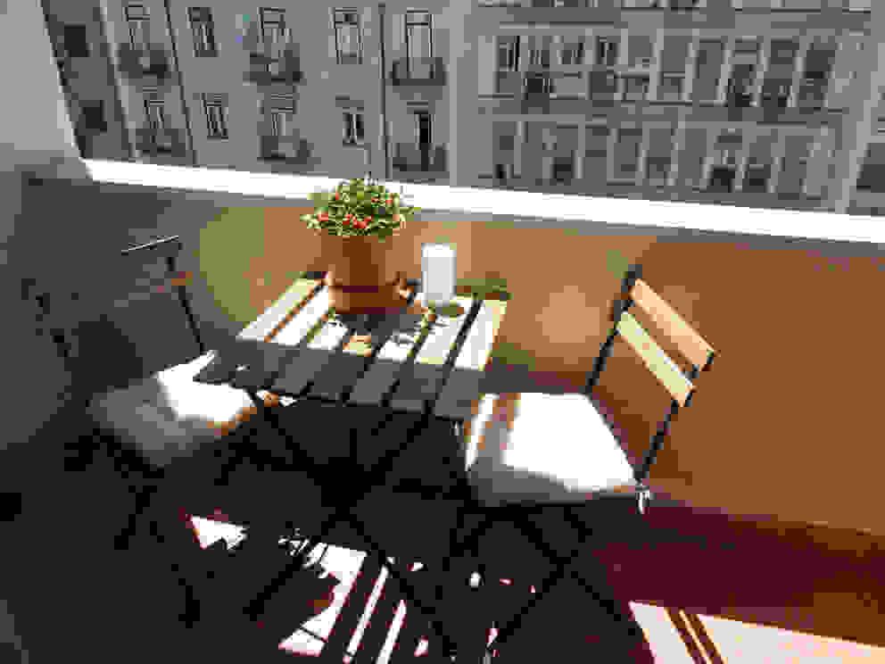 Apartamento Anos 50 | Depois Varandas, alpendres e terraços ecléticos por MUDA Home Design Eclético