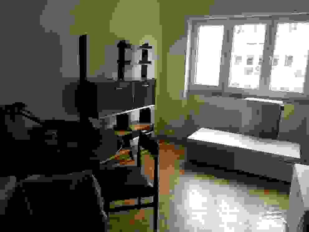 Apartamento Anos 50 | Antes Salas de estar ecléticas por MUDA Home Design Eclético